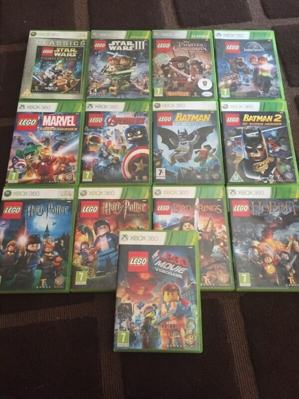 13 Xbox 360 Lego Games Bundle All Working In Padgate
