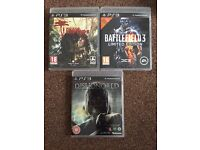 PS3 games £12 for all 3 or £5 each