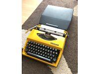 Adler Tippa yellow Typewriter working condition