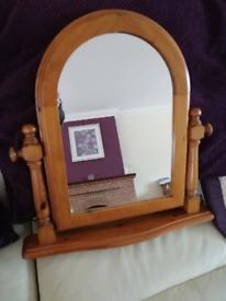 Freestanding Tilting Mirror - Pine Wood