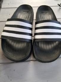 Black Adidas slides size