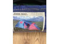 3 Man Tent, chair and camp bed