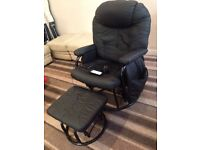 Massaging chair n foot stool