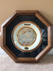 50th Anniversary Plate with 14 Kt Gold Rim