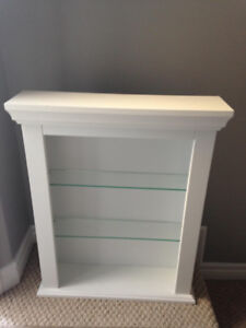 Wall mounting Shelf with glass shelves