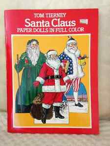 Santa Paper Dolls/Cutouts by Tom Tierney circa 1983 London Ontario image 1