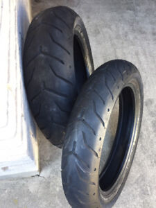 Harley Dunlop Front/Rear Tires - Used