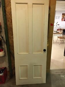 Antique interior pine door
