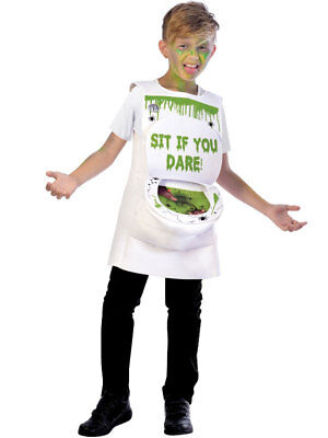 Child Slimy Toilet Costume Boys Girls Halloween Horror Novelty Fancy Dress Kids