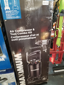 Compresseur d'air, outil pneumatique 1/2, mastercraft 399$ négo