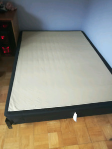 Double Box spring, bed frame and matress