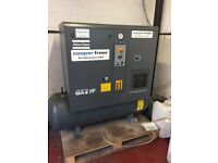 Atlas Copco GX2 FF Receiver Mounted Oil Injected Rotary Screw Compressor.