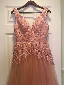 Pink hand made gown /dress /prom / evening