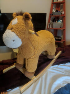 Very cute, and like new rocking horse!