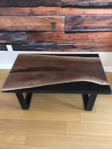 Amazing epoxy & live edge coffee table