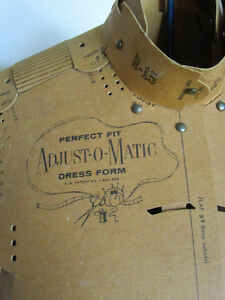 Vintage ADJUST-O-MATIC dress form with stand