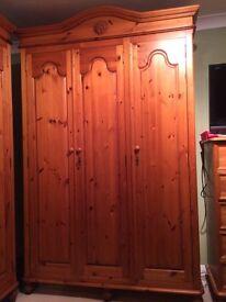 Conway pine triple wardrobe