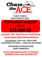 Chase the Ace with Mount Pearl Youth Sports!