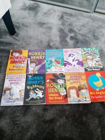7 Horrid Henry books & others