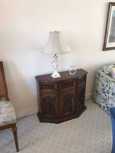 Chandeliers & occasional tables & lamps