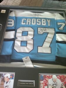Crosby authentic autographed on ice jersey Edmonton Edmonton Area image 9