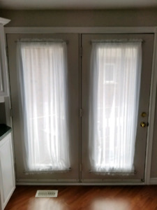 """72"""" French Door Curtains (Set of 2), Magnetic Rods Included"""