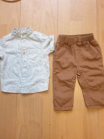 Next brown bottoms and shirt