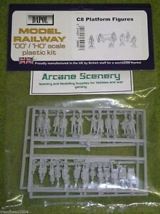 Dapol PLATFORM FIGURES 1/76 Scale scenery Kit 00/HO C8