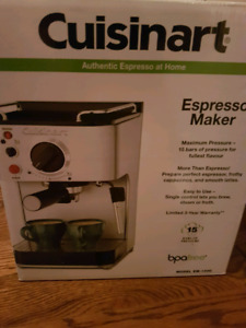 Cuisinart expresso coffee maker **New**