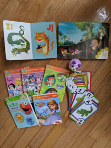 Leap Reader Junior with books and alphabet cards