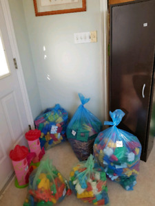 Toys, bed tent, exersaucer, etc