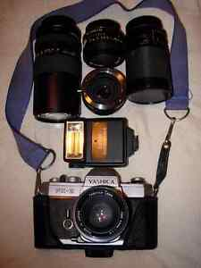 Yashica FX2 35mm plus all accessories