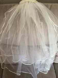 Celtic Style Wedding Dress with Veil and Shoes