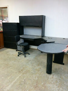 DESK WITH HUTCH-BEST OFFER Peterborough Peterborough Area image 1