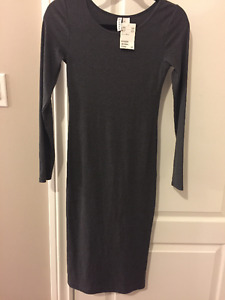Brand New w/ Tags H&M Divided Grey Long-Sleeve Mid-Length Dress