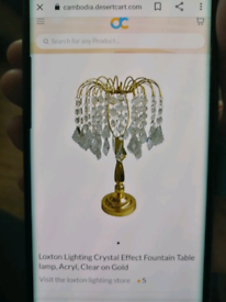 3 crystal droplet lamps