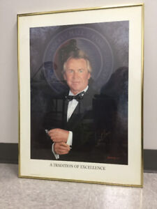 GLEN SATHER A TRADITION OF EXCELLENCE HOCKEY HALL of FAME POSTER