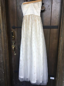 White dress with gold sparkles