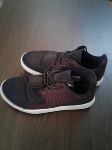 Womens or Girls Jordan Eclipse Black and Red color Shoes Size 7