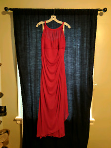 David's Bridal - apple red bridesmaids dress
