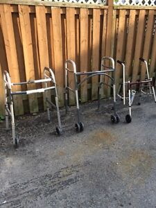 3 brand new 2 wheeled walkers