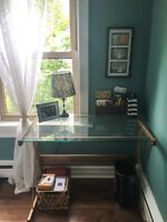 Gold and Glass Desk