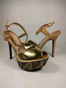 Sam and Libby Gold Stiletto Heels Size 7 Never Worn