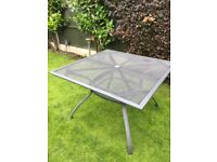 Metal 4 seater patio table