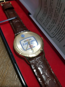 Labatt's Blue beer swiss automatic wrist watch