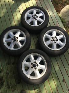 Volvo 16 inch mag wheels with snow tires mounted
