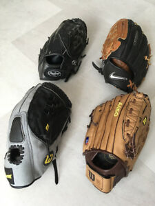 Rawlings, Wilson and Nike Youth Baseball Gloves