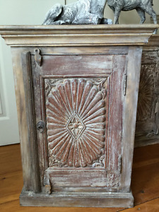 Reclaimed carved rosewood cabinet