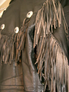 Classic fringed bikers jacket  recycledgear.ca Kawartha Lakes Peterborough Area image 7