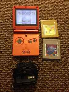 Game Boy SP with Pokemon Gold, Tetris and Final Fantasy